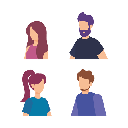 group of people characters vector illustration design 版權商用圖片 - 127349101