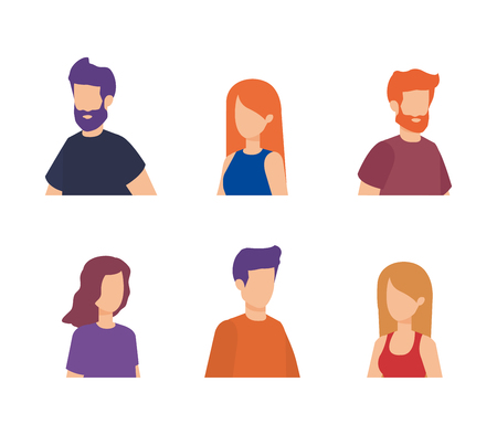 group of people characters vector illustration design 版權商用圖片 - 127349109