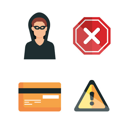 data center security icons vector illustration design