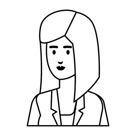 elegant businesswoman avatar character vector illustration design Illustration