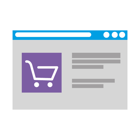 template webpage with shopping cart vector illustration design  イラスト・ベクター素材