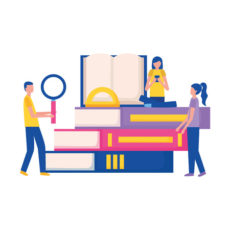 sudents books education supplies school vector illustration vector illustration Illustration