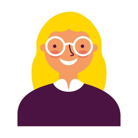 portrait woman on white background vector illustration