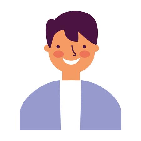 portrait man on white background vector illustration
