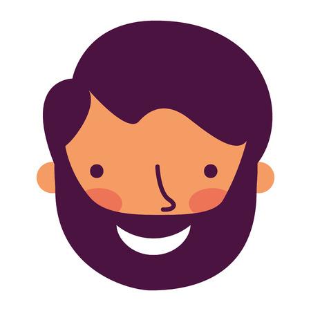 man face on white background  vector illustration 向量圖像