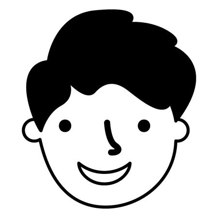 man face on white background  vector illustration Illustration