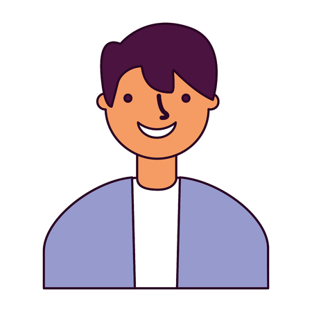 portrait man on white background vector illustration