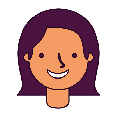 woman face on white background vector illustration