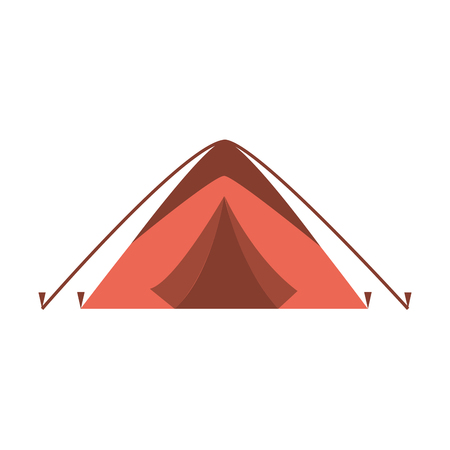 tent camping on white background vector illustration 일러스트