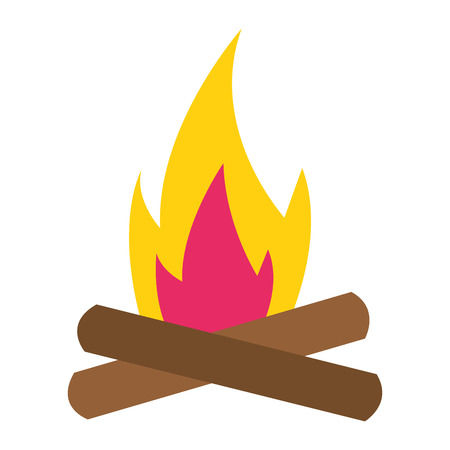 bonfire flame on white background vector illustration