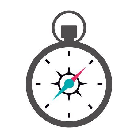 compass tool on white background vector illustration