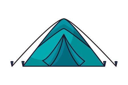 tent camping on white background vector illustration Illusztráció