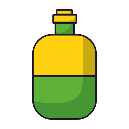 water bottle travel on white background vector illustration