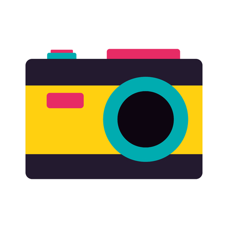 photography camera on white background vector illustration  イラスト・ベクター素材