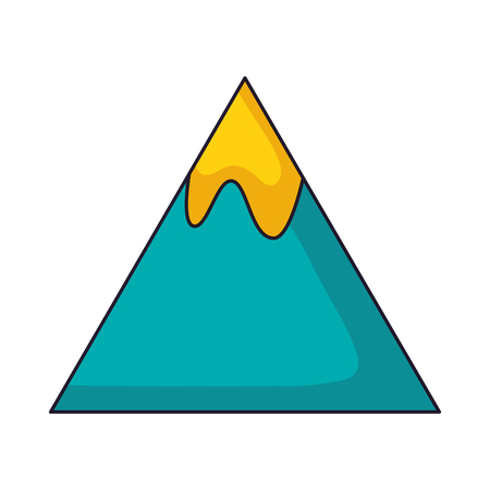 mountain peak on white background vector illustration