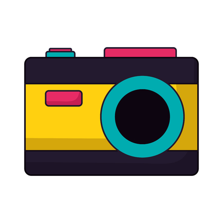 photography camera on white background vector illustration Ilustração