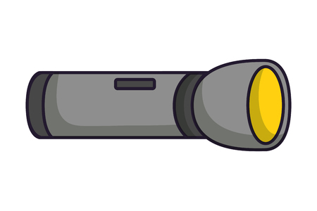 flashlight equipment on white background vector illustration