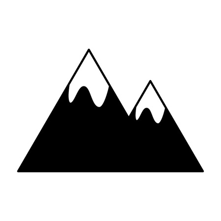 mountains peak on white background vector illustration Ilustracja