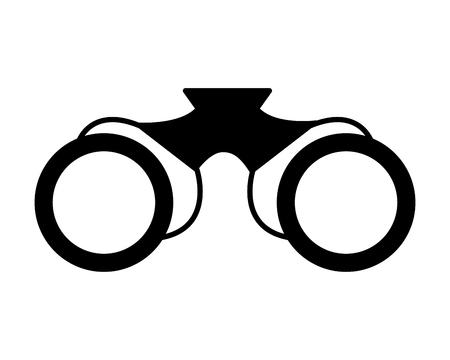 Fernglas-Objekt auf weißem Hintergrund-Vektor-illustration