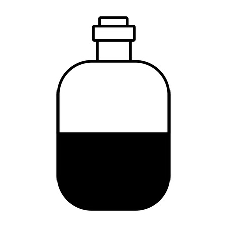 water bottle travel on white background vector illustration