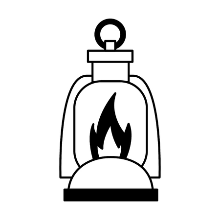 burning lantern on white background vector illustration Foto de archivo - 127349687