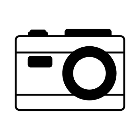 photography camera on white background vector illustration Ilustracja