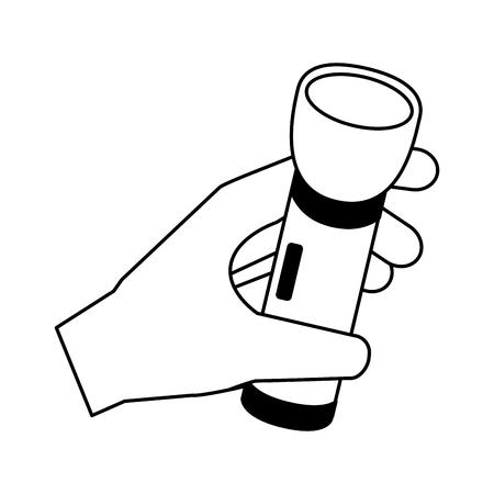 mano sosteniendo la linterna camping verano ilustración vectorial