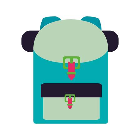backpack equipment on white background vector illustration