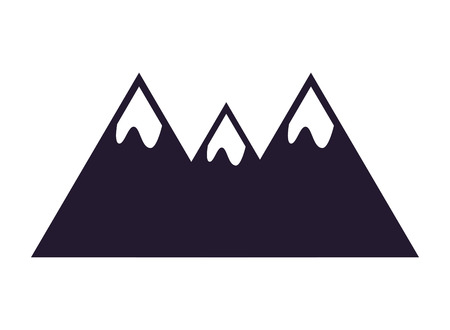 mountain peaks on white background vector illustration Banque d'images - 112719018