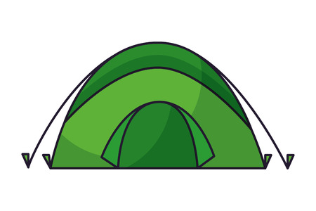 tent camping on white background vector illustration Ilustração