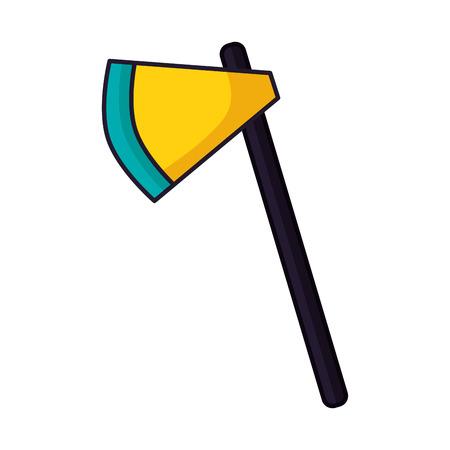 axe tool on white background vector illustration Illustration