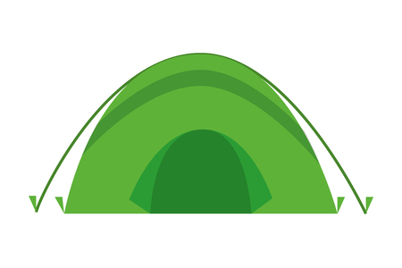 tent camping on white background vector illustration Illustration