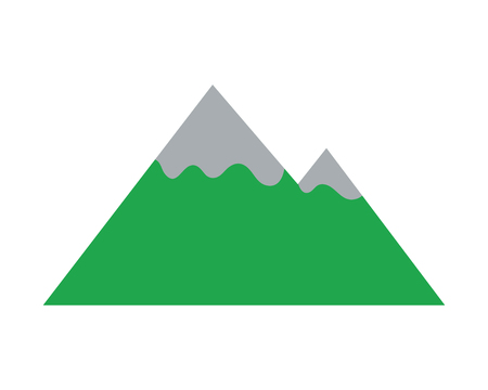 mountain peaks on white background vector illustration