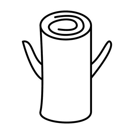 trunk wooden on white background vector illustration
