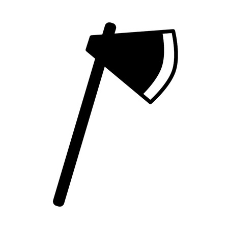 axe tool on white background vector illustration Illusztráció