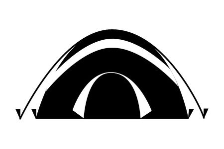 tent camping on white background vector illustration Illusztráció