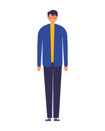 man standing on white background vector illustration