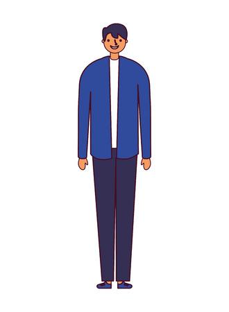 man standing on white background vector illustration Stock Vector - 127353786