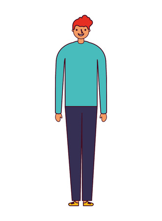 man standing on white background vector illustration