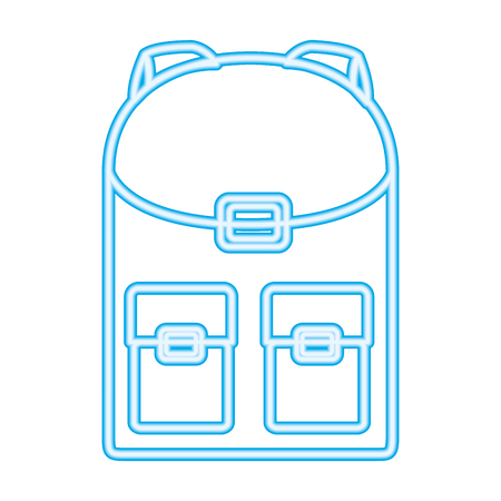 backpack accessory on white background vector illustration neon design