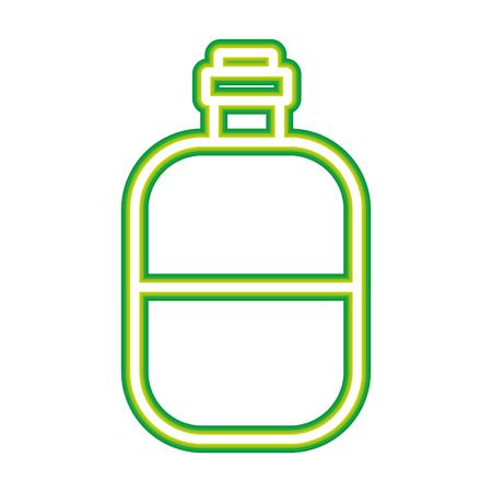 water bottle travel on white background vector illustration neon design