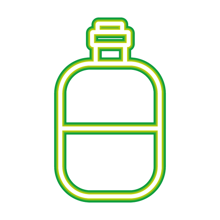 water bottle travel on white background vector illustration neon design