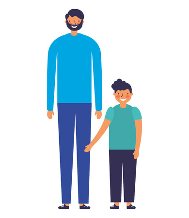 family happy father and son vector illustration Stock Vector - 127315644