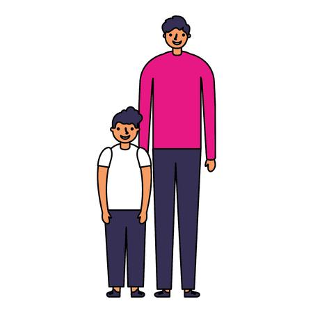 Familie glücklicher Vater und Sohn Vektor-Illustration