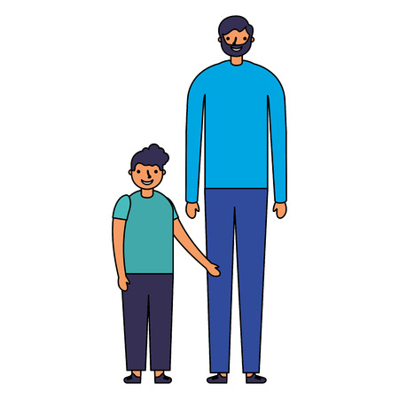 family happy father and son vector illustration Illustration