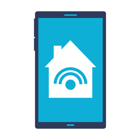 cellphone control remote smart home vector illustration