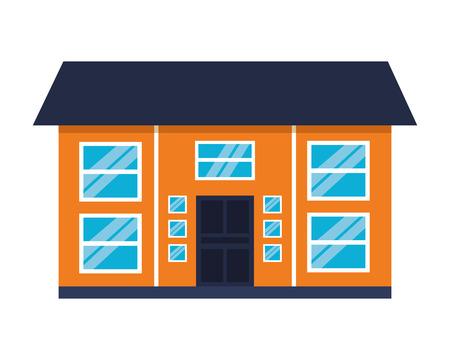 house home exterior on white background vector illustration 写真素材 - 112734616