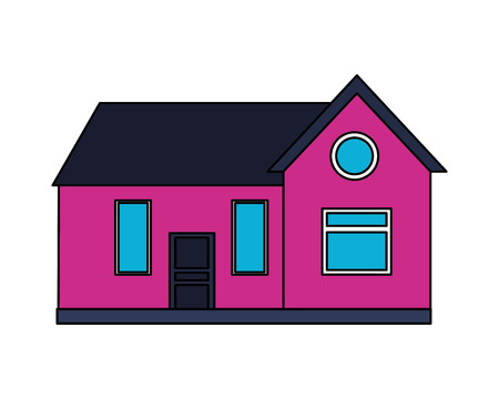 house home exterior on white background vector illustration