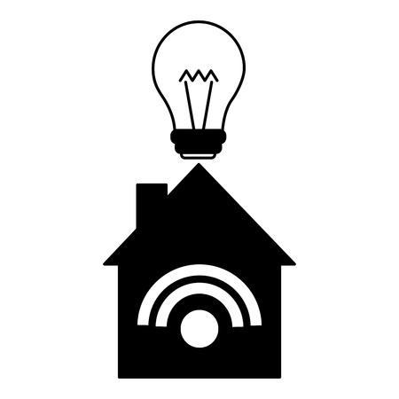 smart home connection bulb light vector illustration Иллюстрация