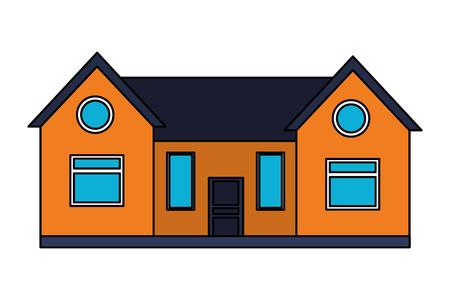 house home exterior on white background vector illustration
